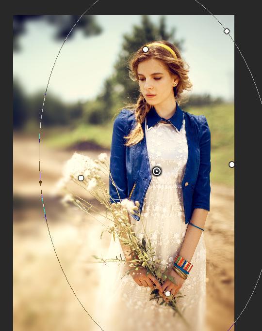 photoshop cs6 给旷野少女加上柔美的淡黄色