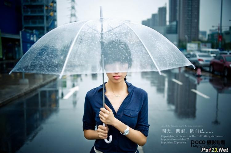 雨季人像摄影作品点评