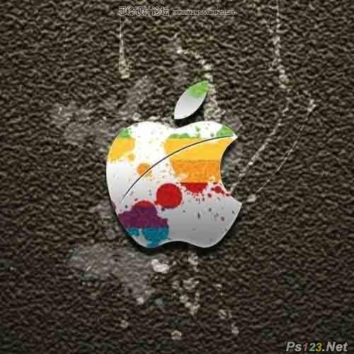 ps设计精美的苹果壁纸教程