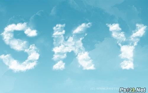 PS教你制作可爱云朵文字