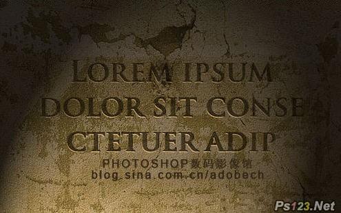 PS打造复古墙壁文字