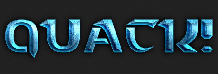 ps教你制作漂亮的蓝色荧光标题字