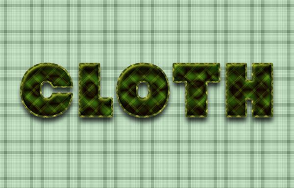 利用图案及图层样式教你制作水晶布纹字