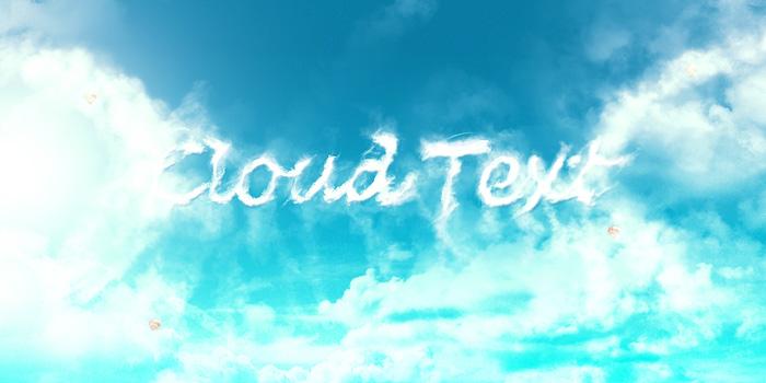 ps教你制作清爽洁白的云朵字