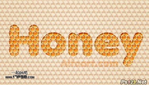 利用图案及样式教你制作非常可爱的蜂窝水晶字