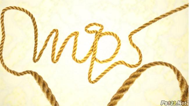 利用CS5操控变形工具把绳子扭曲成想要的文字