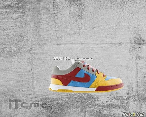 ps设计创意十足的耐克球鞋广告