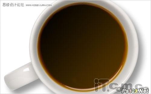 ps使用滤镜教你制作牛奶混和咖啡的效果