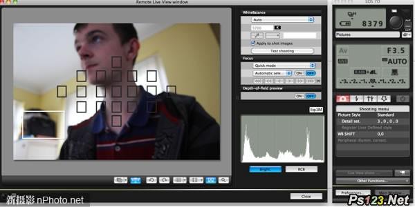 佳能用户通过EOSUtility软件可实现电脑控制远程拍摄