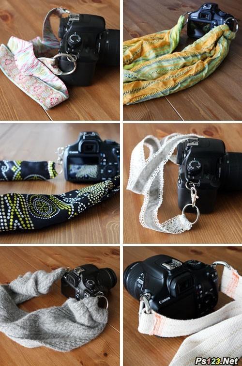 超简单的DIY个性相机背带方法