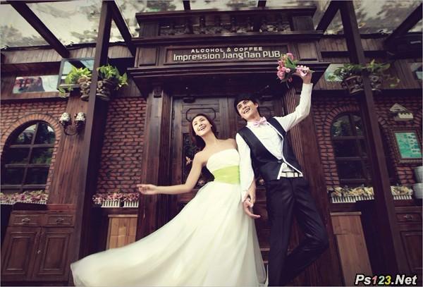拍摄独具情调的商业街婚纱照技巧 三联