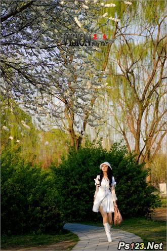 春日里的公园人像拍摄