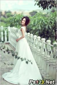 婚纱外景拍摄中长焦镜头的应用