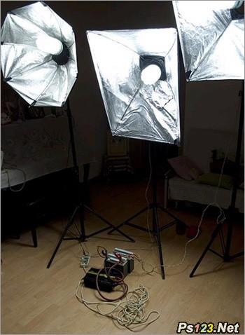 三基色灯在人像摄影中的应用