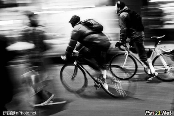 拍摄动感效果照片的场景:用虚化效果表现运动感