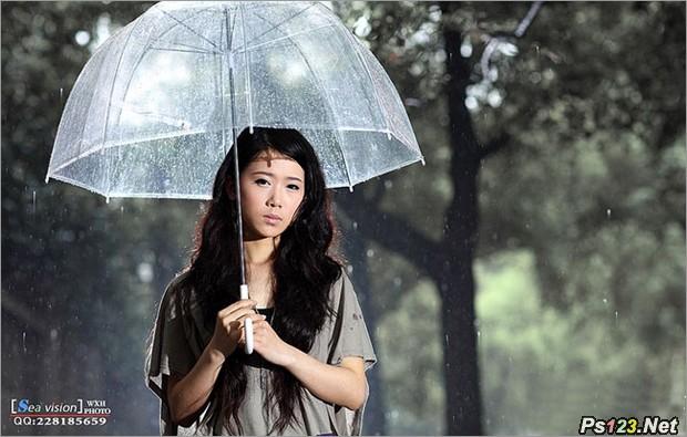 把握雨天人像拍摄关键点