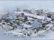 江南雪景高清图片