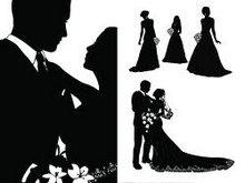 新郎新娘矢量图