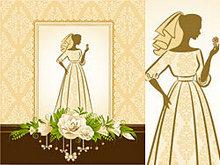 新娘剪影矢量图2