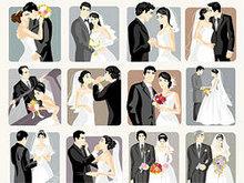 婚礼插画矢量图3