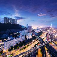 香港夜晚全景图片
