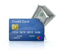 信用卡钱包美元图片