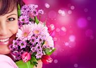 鲜花美女图片