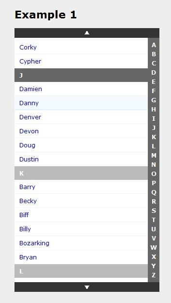 iPhone 电话列表效果