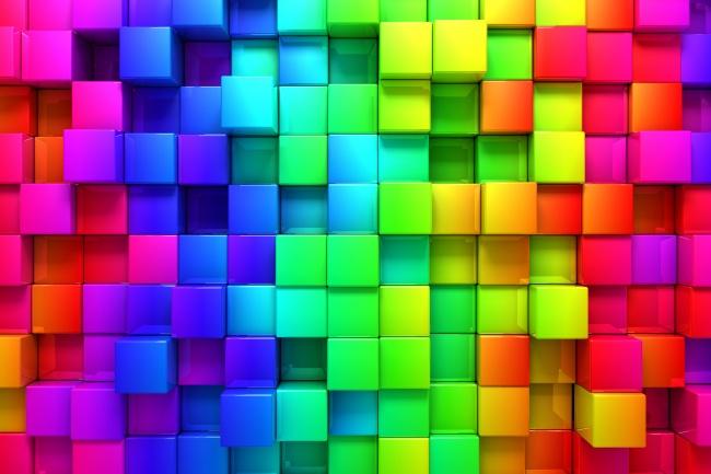韩国人体摄影图_彩色格子设计图片-素彩图片大全