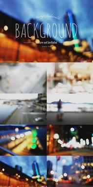 8张美丽的光斑模糊城市背景-有点磨砂的感觉图片素材