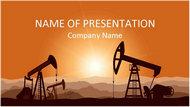 石油开采能源工业PPT模板