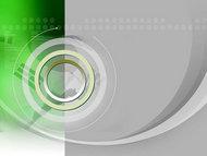 晶莹绿色商务PPT模板