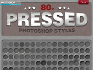 80个超酷质感凹陷效果样式