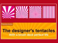 photoshop brushes规则形状散射高光画笔笔刷 不规则径向画笔 径向画笔