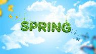 Spring字母背景PSD素材