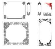 古典花纹相框PSD素材