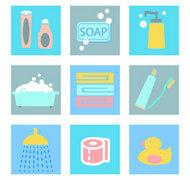 洗漱用品图标矢量图