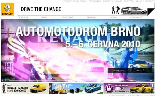 雷诺汽车的清新网页界面设计