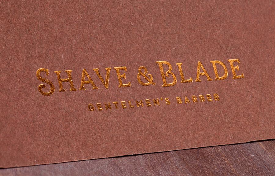 Shave & Blade理发店品牌视觉设计