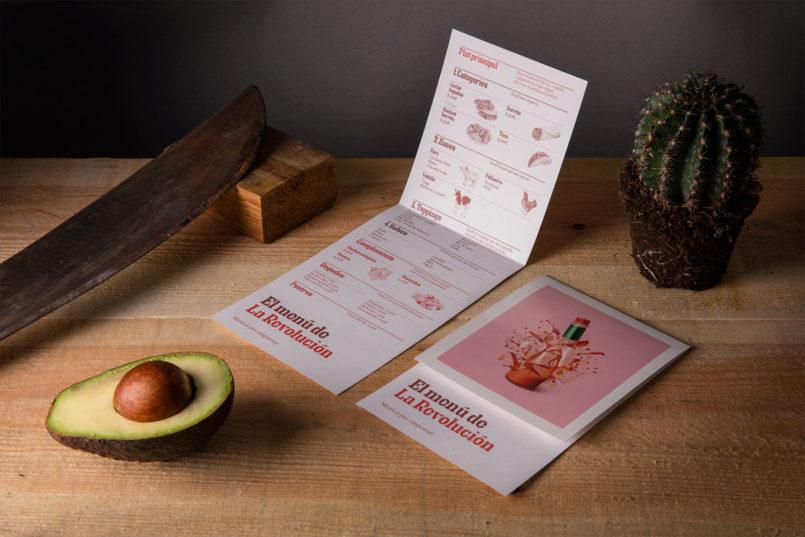 墨西哥La Revolución餐馆品牌形象视觉设计