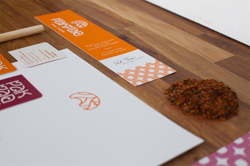 品牌形象设计欣赏:达拉斯Pak Pao泰国餐厅