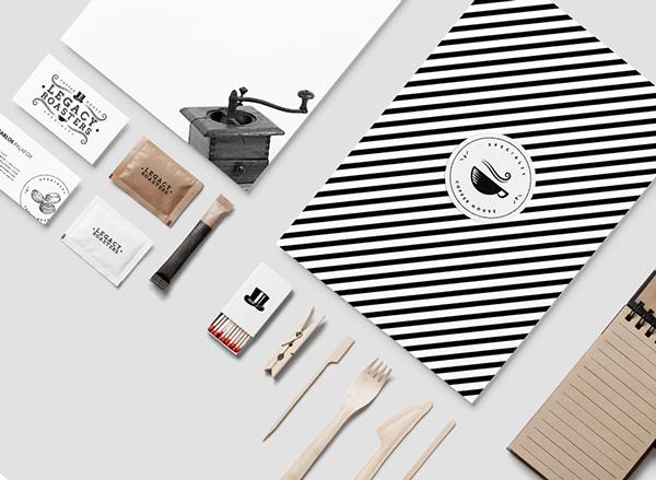 Legacy Roasters咖啡馆品牌视觉形象设计
