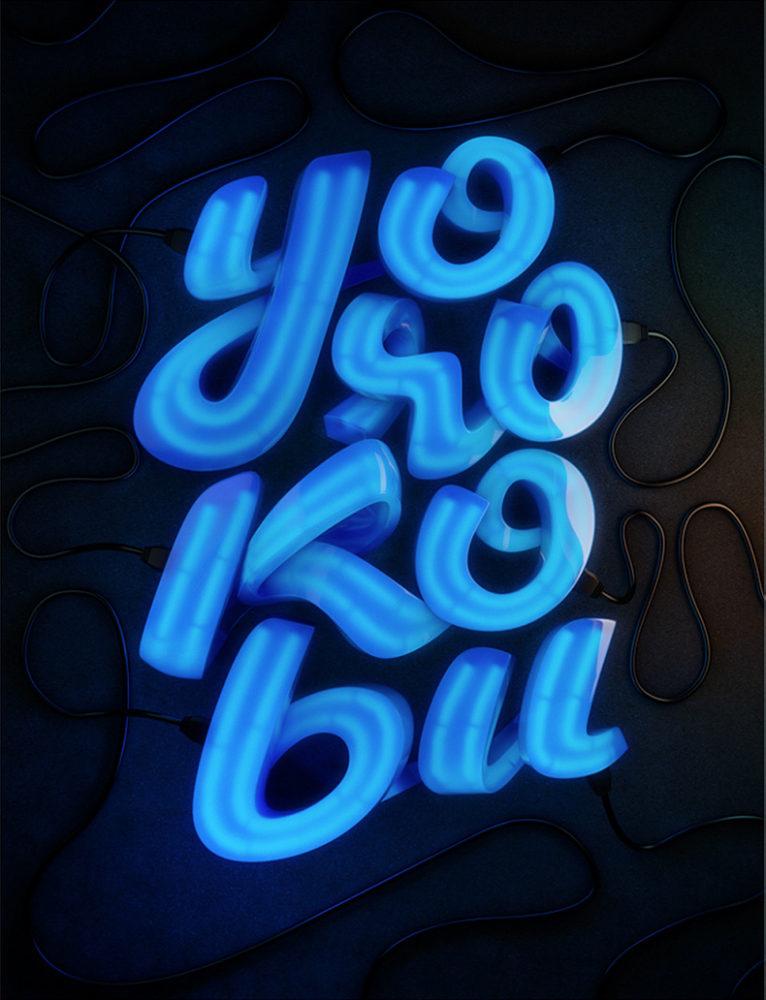 Zigor Samaniego创意立体字体设计