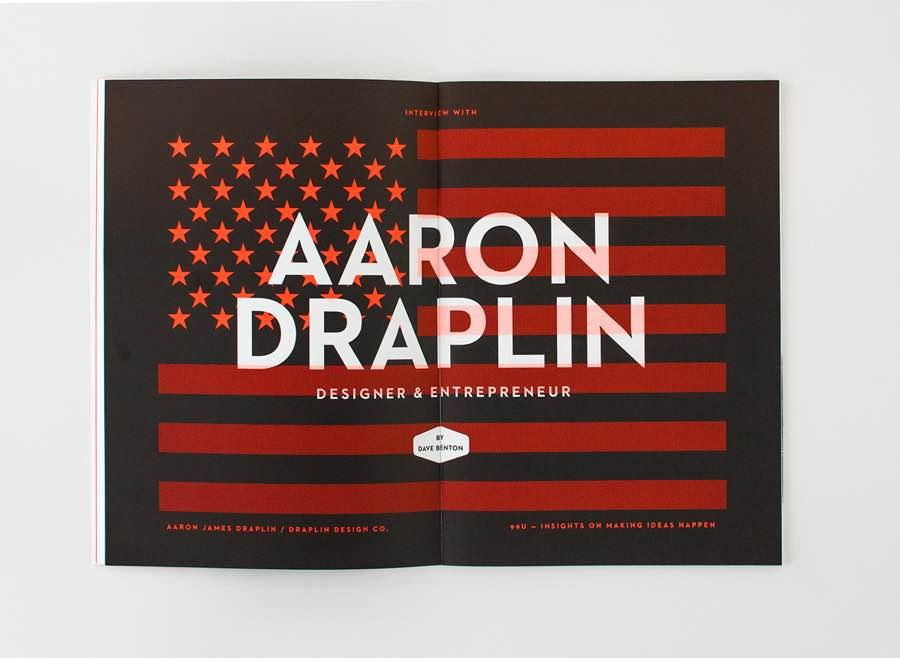 99U Quarterly杂志版式设计