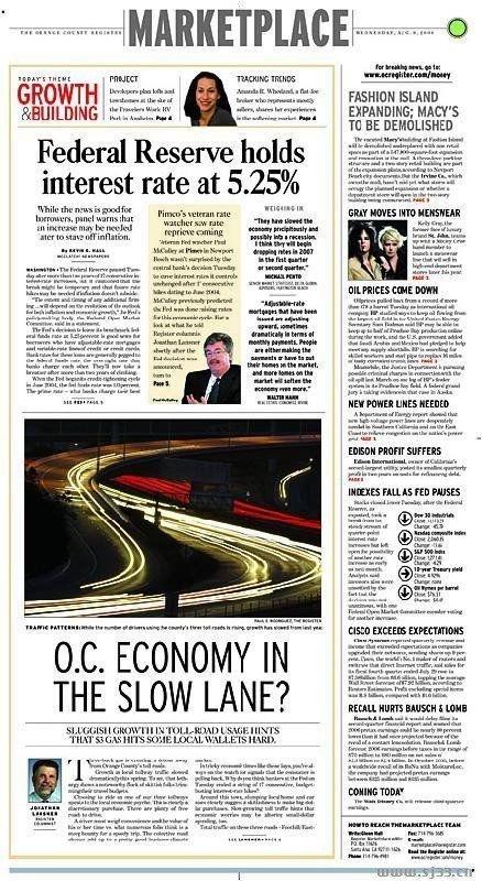 国外金融商业类报纸版面设计