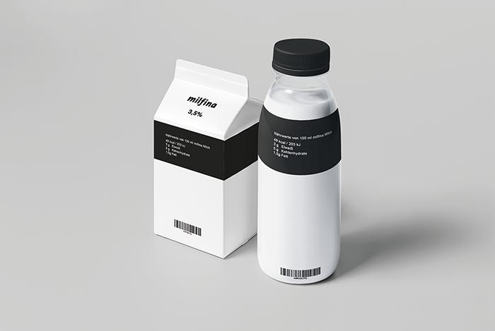 Milfina牛奶包装设计