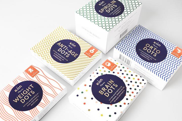 Kiin清新简约的药品包装设计
