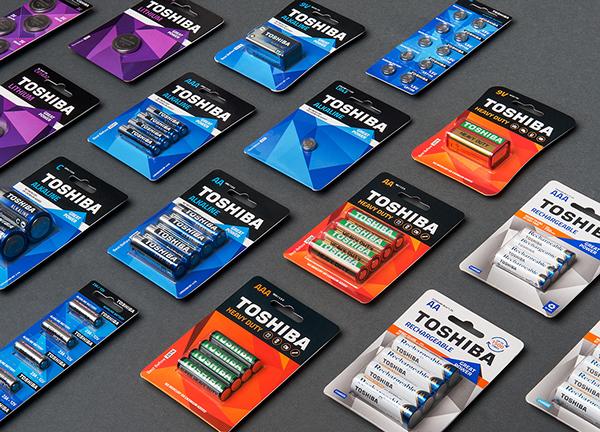 TOSHIBA东芝电池包装设计