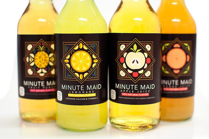 Minute Maid果汁包装设计