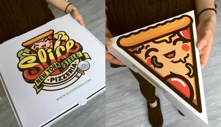 韩国Slice比萨包装设计